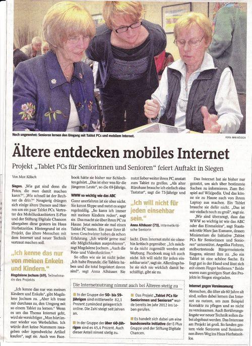 Pressebericht Westfalenpost 26.9.2014-2