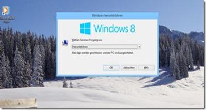 Windows8runterfahren