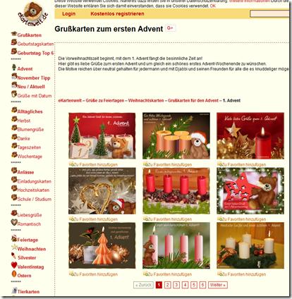 Adventsgrußkarten Bei Ekartenwelt Senec Fe Weblog